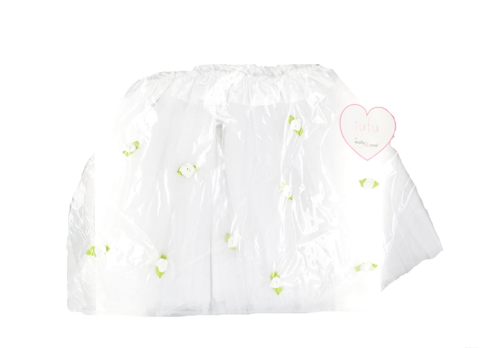 Children's White Tutu with White Roses Fancy Dress Accessory