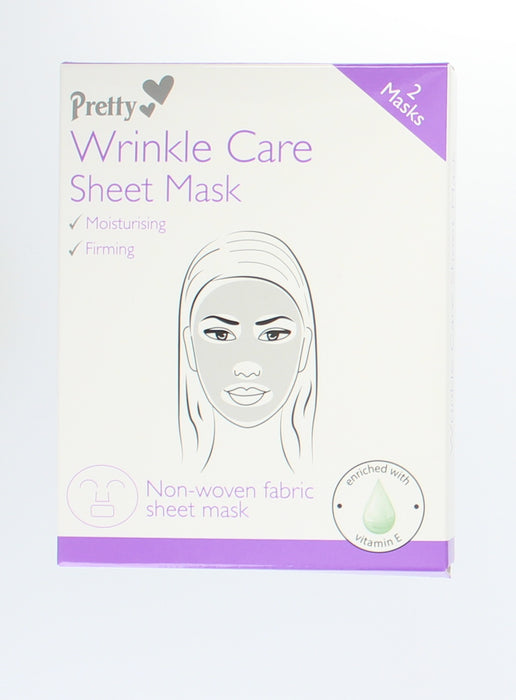 Pretty Anti-Wrinkle 2 Fabric Sheet Mask Enriched With Vitamin E