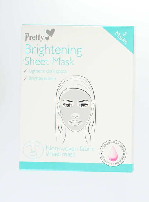 Face Brightening Mask Moisturising Fabric Sheet with Rose Oil & Pomegranate Seed