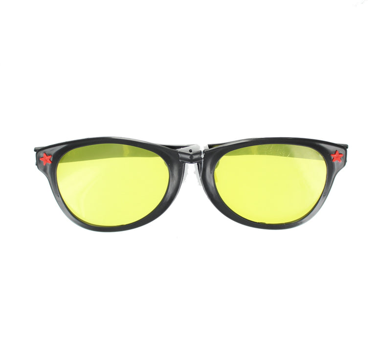 Novelty Jumbo Bright Coloured Party Glasses Fancy Dress Accessory-Black