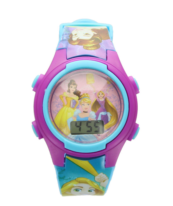 Children�s Disney Princess Purple Digital Wrist Watch in Character Money Box Tin