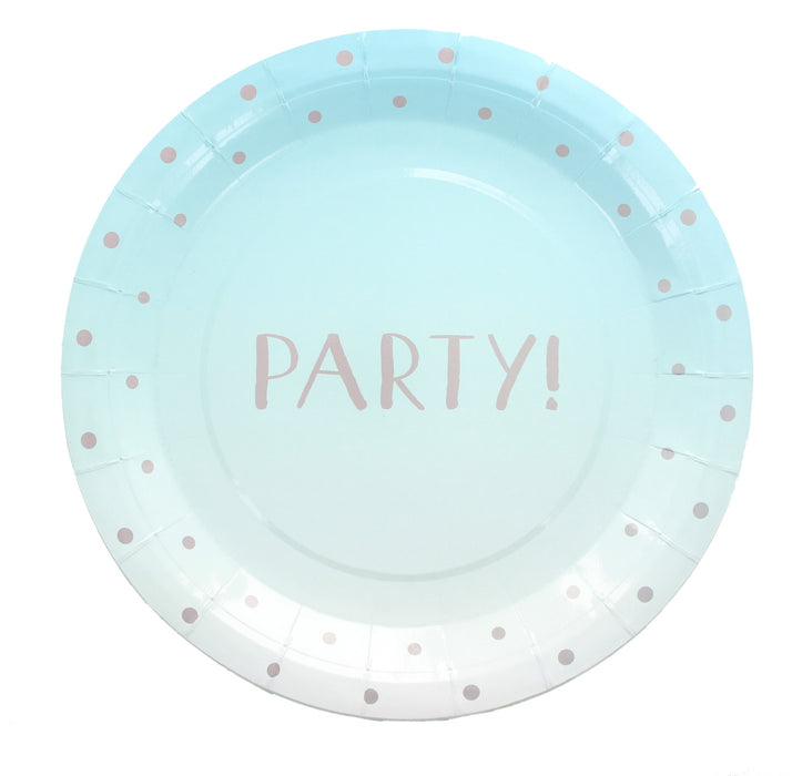 Pack of 20 Summer Party Disposable Paper Plates Party Tableware Supplies-Blue