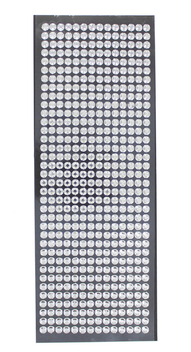 504 Medium Adhesive Crystals Metallic Sparkly Jewels Card Craft Accessories-Silver