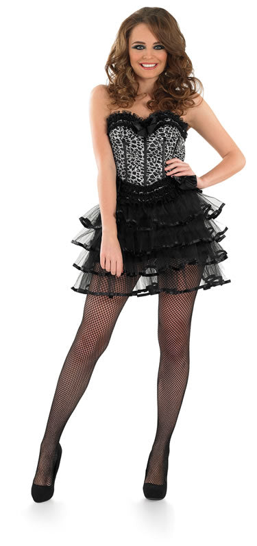 Halloween 2 Piece Snow Leopard Corset & Layered Tutu Fancy Dress Costume