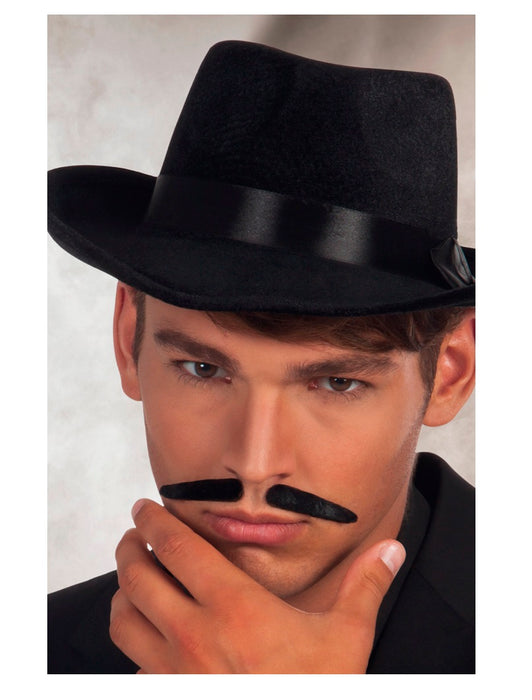 Black 2-Pieces Gangster Moustache Fancy Dress Accessory