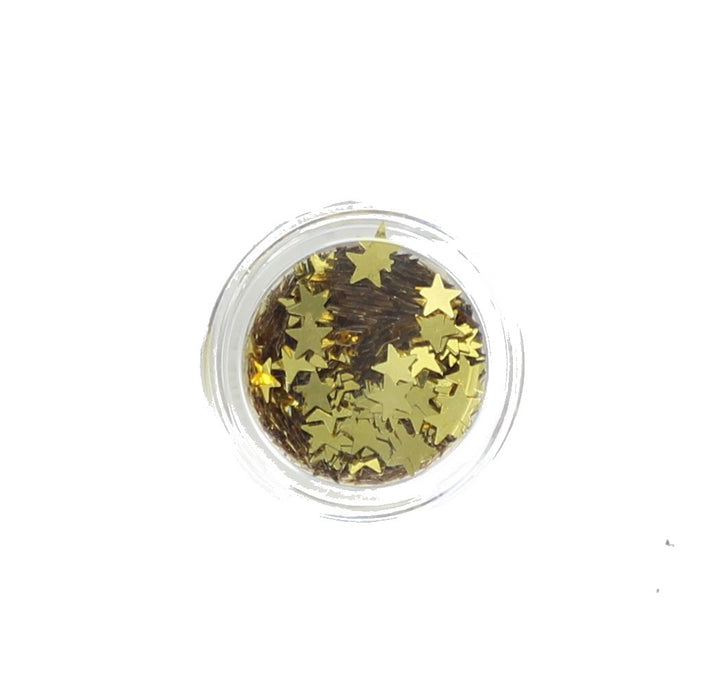 Stargazer Face and Body Glitter Stars -Gold