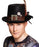 Boland BV Black Feather Plumepunk Top Hat With Buckle Fancy Dress Accessory