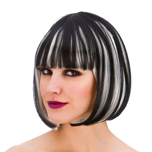 Adults Ladies Dark Diva Wig Halloween Fancy Dress Accessory