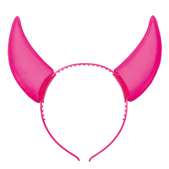 Boland BV Neon Coloured Devil Horn Rave Headband Fancy Dress Accessory
