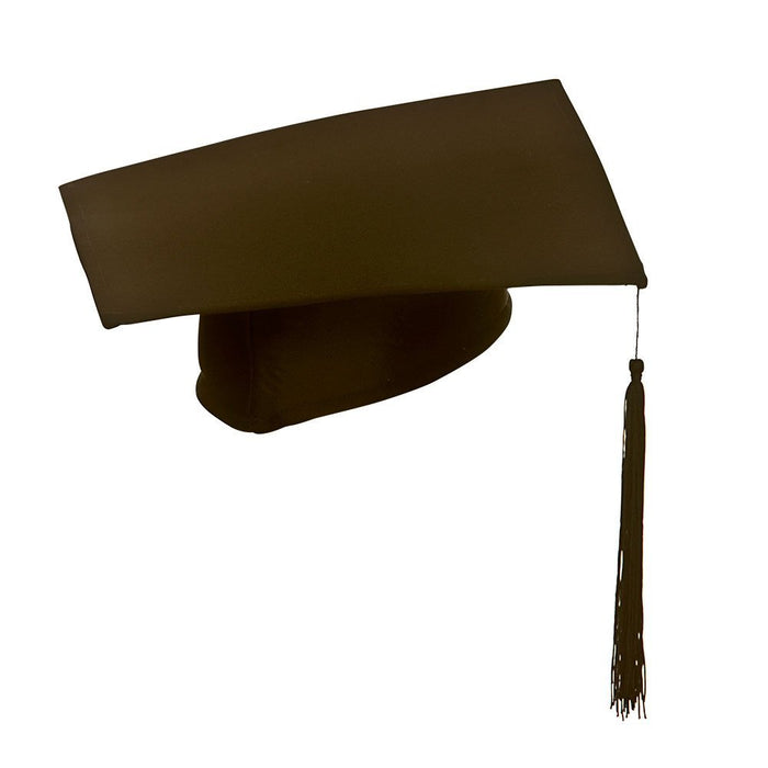 Adult Black Deluxe Teacher/ University Graduate Hat Fancy Dress Accessory