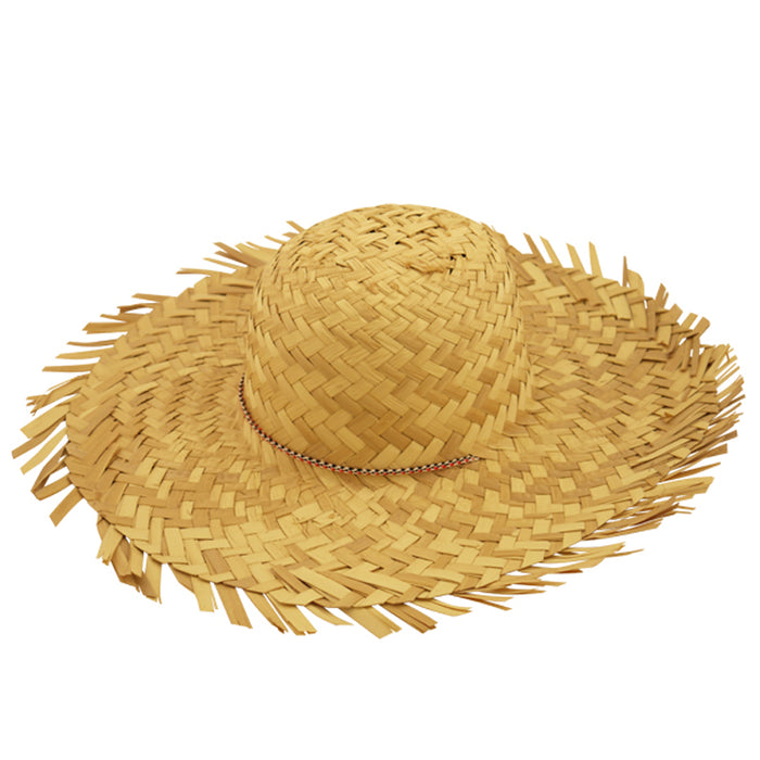 Adult Female Beachcomber Straw Hat Fancy Dress Accessory