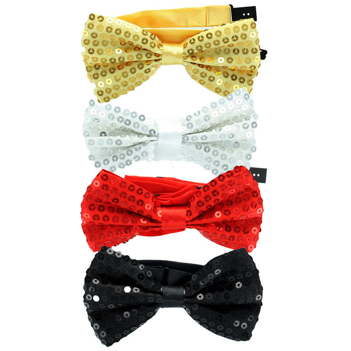 Adult Loose Sequin Bow Tie Fancy Dress Accessory - One Size