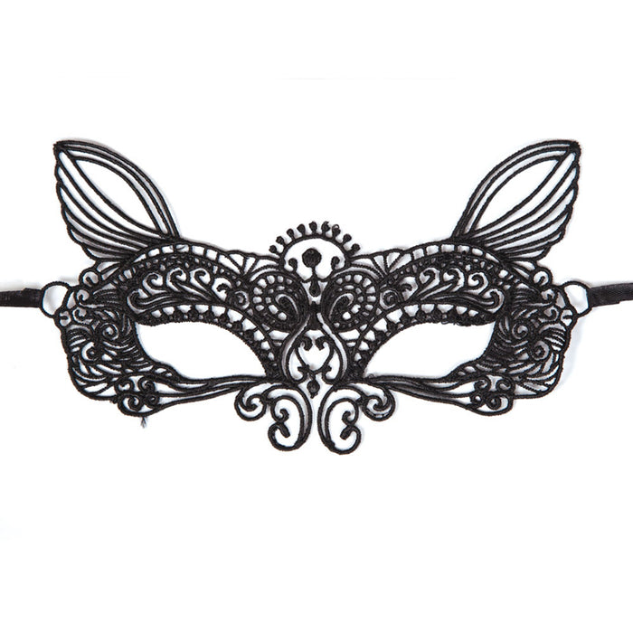 Adults Black Soft Lace Masquerade Eyemask Halloween Fancy Dress Accessory-9962