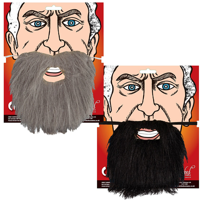 Adults Elasticated Character Beard Fancy Dress Accessory