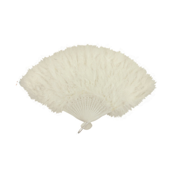 Feather Hand Fan Ladies Burlesque Fancy Dress Costume Accessory