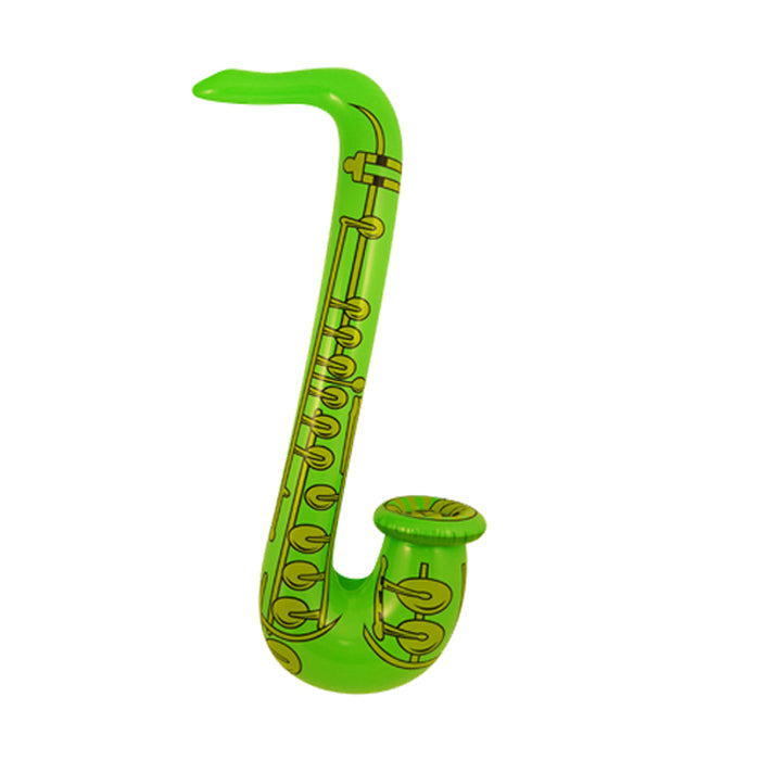 Novelty Inflatable/ Blow Up Saxophone 75cm Fancy Dress Accessory