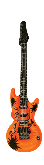 Novelty Inflatable/ Blow Up Guitar 55cm Fancy Dress Accessory