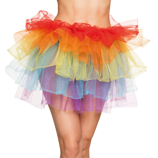 Boland Rainbow Clown Tutu Petticoat Fancy Dress Costume Accessory-One Size