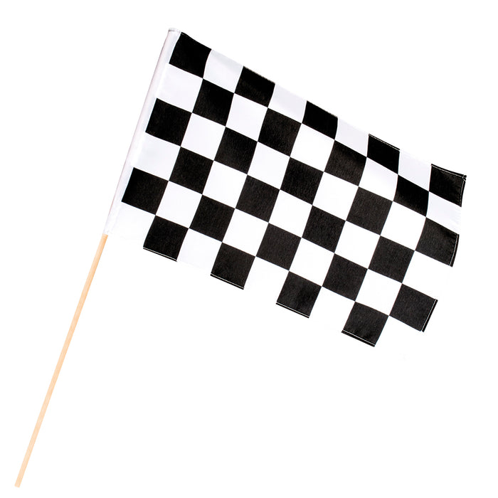 Racing Finish Line Black & White Chequered Hand Flag 30x45x60cm