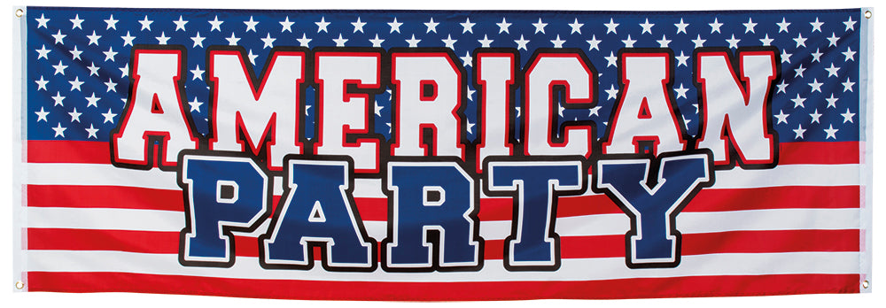 Boland Polyester American Flag Party Celebration Banner 220 x 74cm