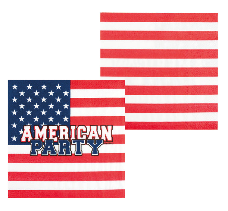 Boland American Flag Party Paper Napkins 12 Pack Party Celebration Tableware