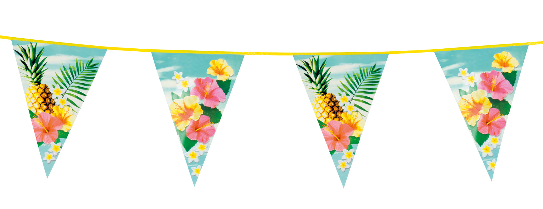 Boland Tropical Party Bunting Hawaiian Luau Paradise Themed Decoration 6m