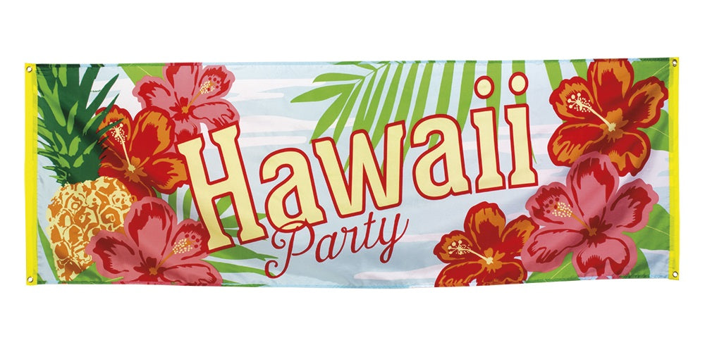 Boland Hawaii Party Hawaiian Luau Paradise Themed Tropical Banner 220 x 74cm