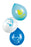 Boland 6 Pack Baby Shower Blue & White Baby Boy Balloons With Rainbow & Clouds