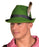 Boland Oktoberfest Green Trilby Hat with Feather Bavarian Fancy Dress Accessory