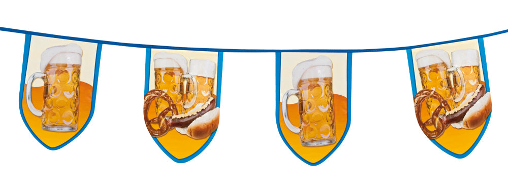 Boland Oktoberfest Blue & White Large Beer Fun Bunting Banner Decoration Supplies 8M