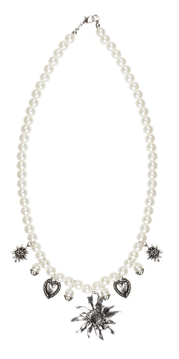 Boland Oktoberfest Adults Edelweiss Pearl Necklace Fancy Dress Accessory