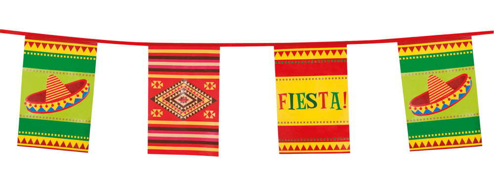 Boland Large Mexican Fiesta Bunting Party Banner Decoration Accessory 10M