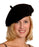 Boland Black Felt French Beret With Elasticated Band Fancy Dress Accessory