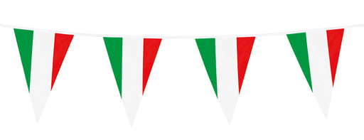 Boland Italy Flag Bunting Italian World Cup Party Celebration Decoration 10m