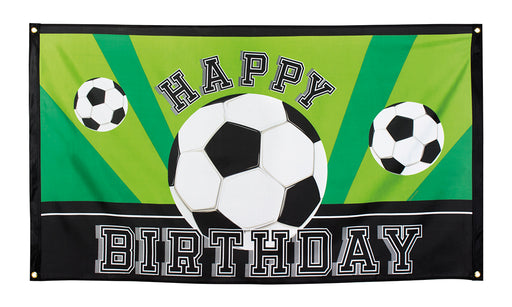 Boland Happy Birthday Football Flag Polyester Party Celebration Decoration