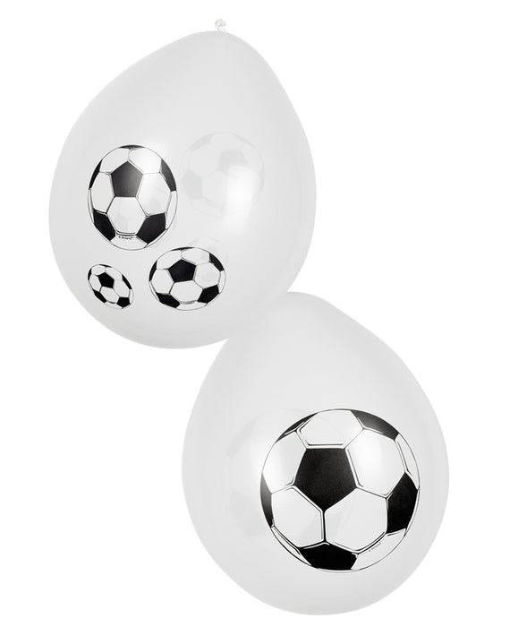 Boland White Football Balloons World Cup Party Celebration Decoration 6 Pack