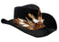 Adults Voodoo Black Suede Cowboy Hat Fancy Dress Accessory