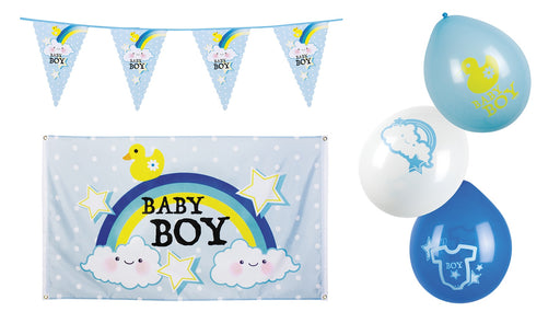 Boy�s Baby Shower 6 Meter Bunting, Flag, & Balloons Party Decoration
