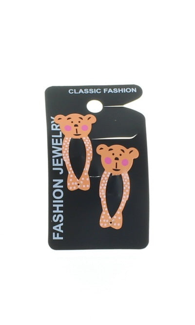 Pair of Animal Design Hair Snap Clips Girls Hair Accessories