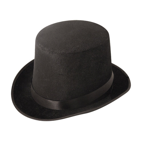 Black Velvet  Top Hat Fancy Dress Accessory Victorian Kids Adults Party