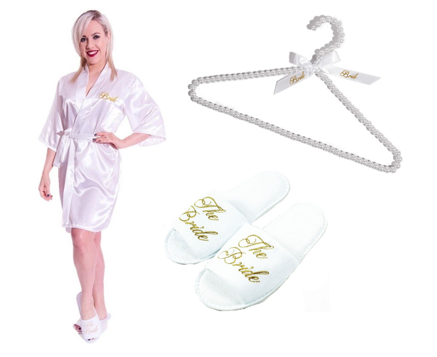 Ultimate Bride To Be Set Includes Kimono Dressing Gown, Slippers ...