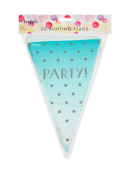 20 Flags Giant Pennant Bunting Party Banner Decoration Accessory/ Supplies-Blue