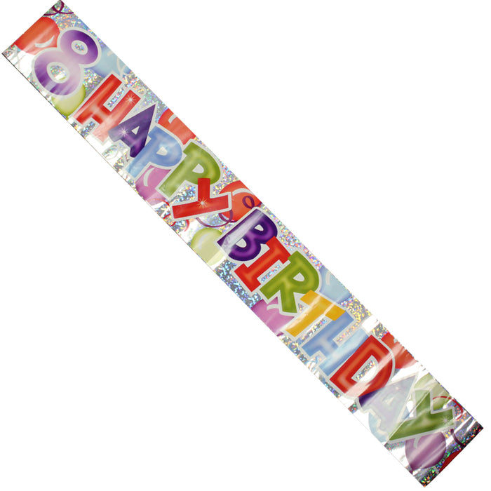 Celebration Party Banner 8th Birthday Decorations 2.6cm Long