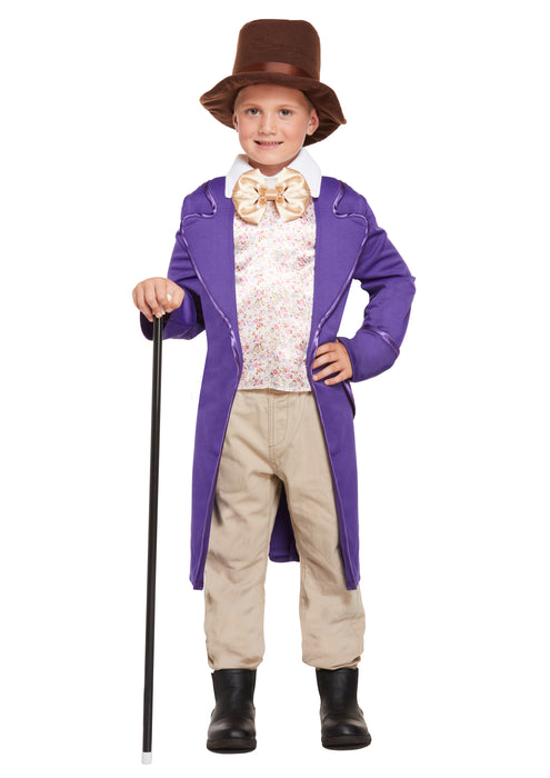Factory Boss Childrens Fancy Dress Costume Top with Attached Jacket & Hat-Medium 7-9 Years