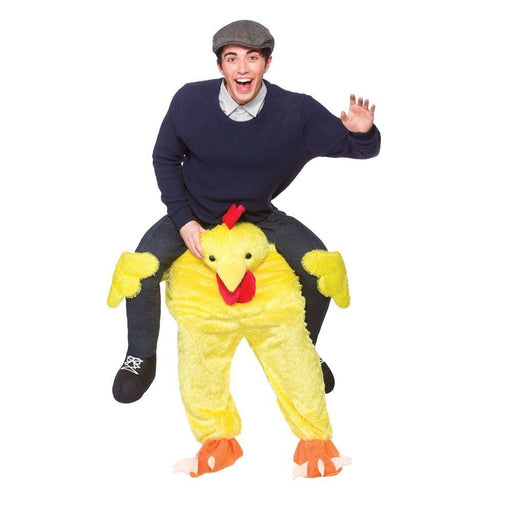 Adults Chicken Shoulder Carry Me Ride On Piggy Back Fancy Dress Costume Outfit Idea