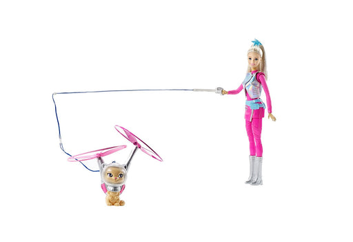 Barbie Starlight Adventure Galaxy Barbie Doll Figure & Flying Hover Cat Children