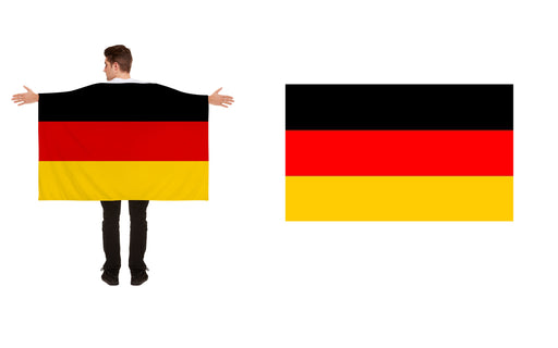Germany Polyester German Flag & Flag Cape World Cup Party Accessory 2PC