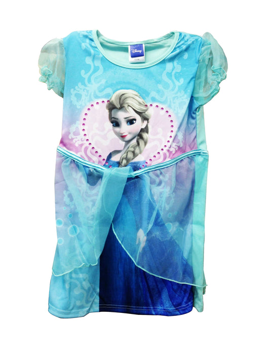 Disney Princess Frozen Elsa Girls Blue Party Tutu Dress-5-6 Years
