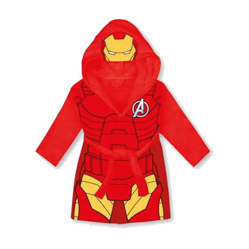 Marvel Avengers Children\'s Hooded Red Fleece Iron Man Dressing Gown ...