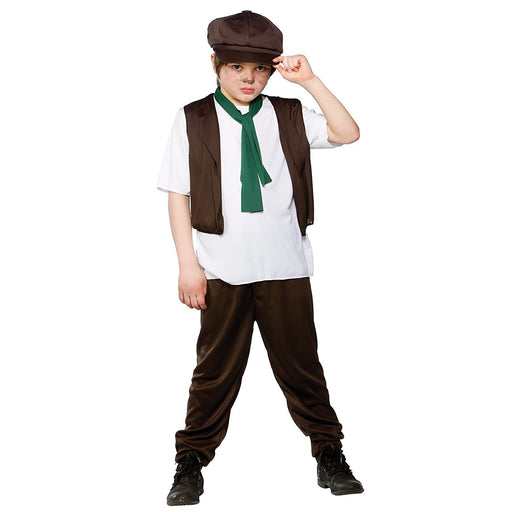 Victorian Boy Children Fancy Dress Costume Shirt, Trousers, Scarf & Hat